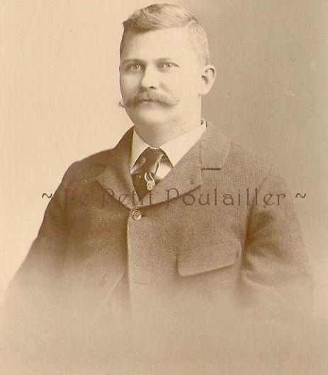 Robert Given and His Serious Mustache 1896 Victorian Businessman Portrait