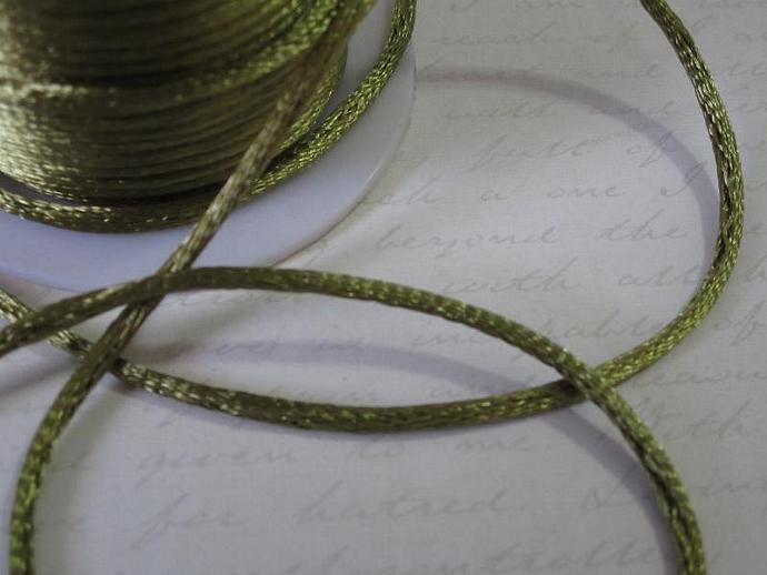 3yds - Old Willow String Satin Ribbon