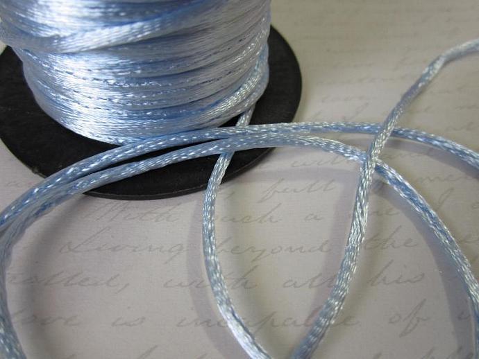 3yds - Lt. Blue String Satin Ribbon