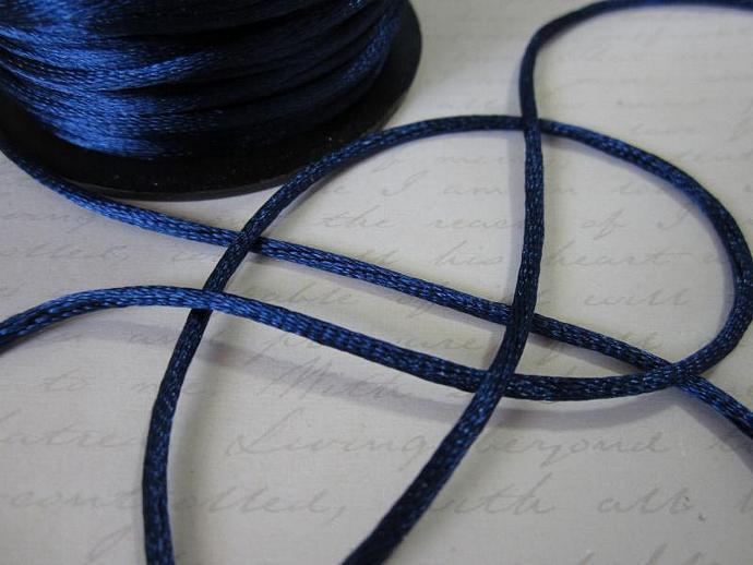 3yds - Navy String Satin Ribbon