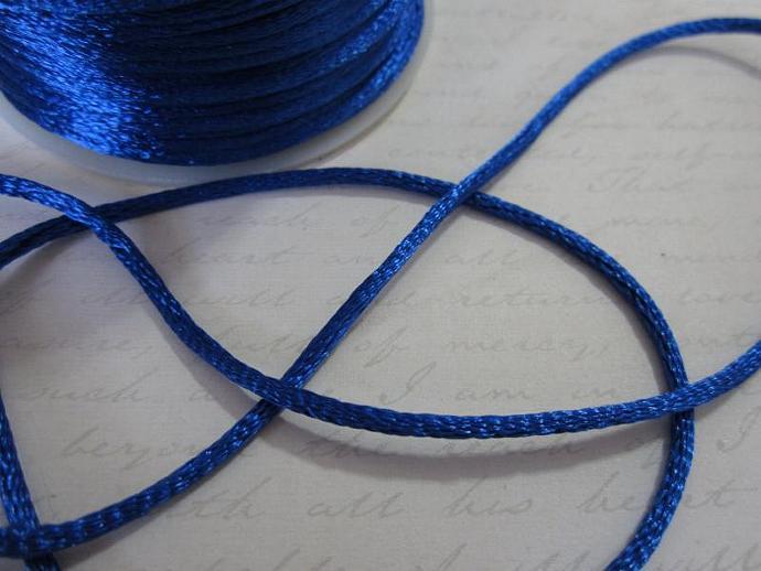 3yds - Royal Blue String Satin Ribbon