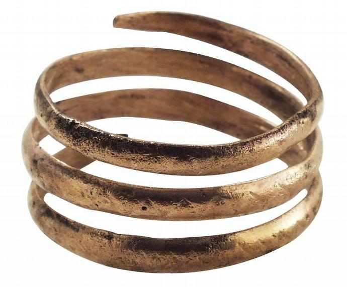 Ancient Viking Coil Ring Mans by PicardiJewelers on Zibbet