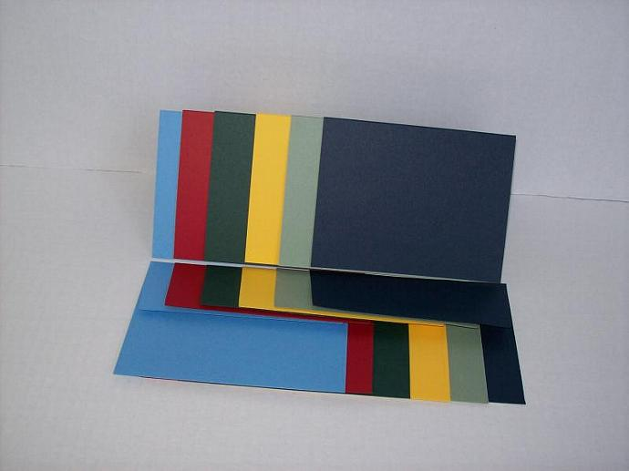 12 Blank Cards - A2 - Assorted Colors