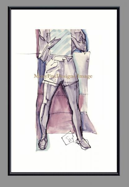 Art -- SKETCHING IN SHORTS -- Limited Edition --  FREE US Shipping