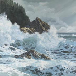 """Winter Coast"" Canvas Giclee Print by Carol Thompson"