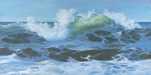 """Turbulent Water"" Canvas Giclee Print by Carol Thompson"