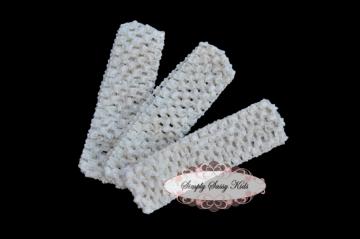 18 IVORY 1.5 inch Crochet Headbands