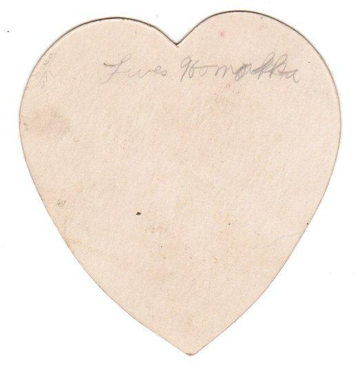 Vintage Valentine Card Heart Shaped Children 1920s