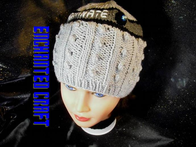 Hand Knitted DALEK beanie Hat inspired by Dr Who