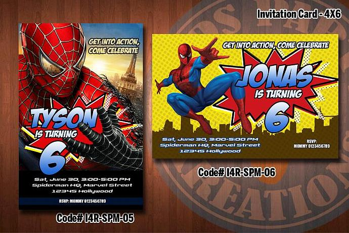 SPIDERMAN Invitation Printable KidsPartyKreations