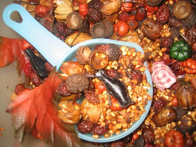 Autumn HARVEST Hips-n-Pods Primitive Chunky Fixins 1 Cup of Rosehips & Pods