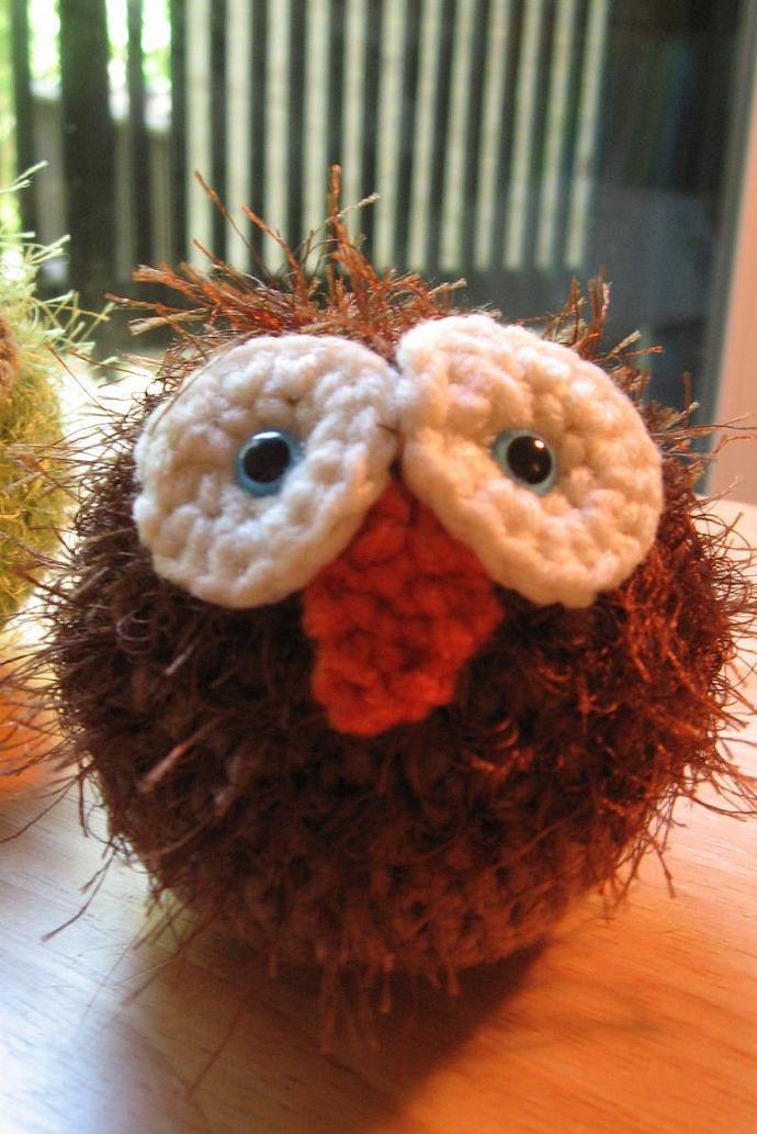 Fuzzy Amigurumi Owl