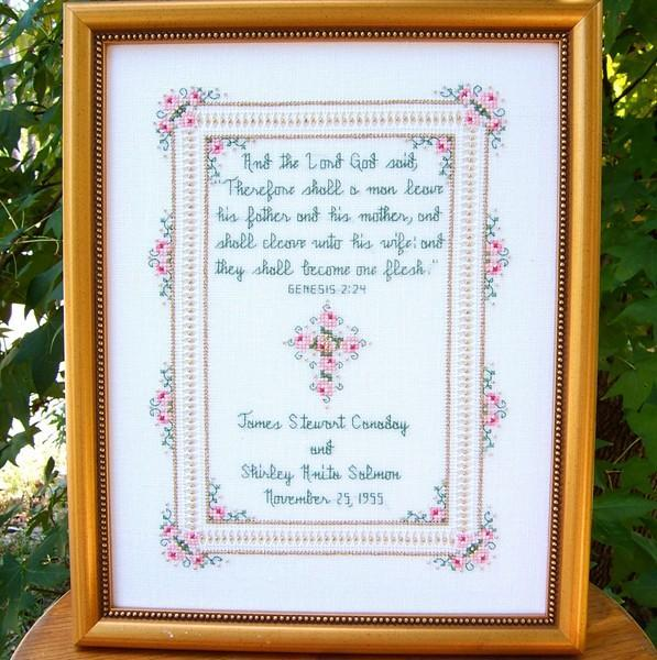 Wedding Sampler Cross Stitch Pattern AStitchAndAPrayer Stunning Cross Stitch Wedding Patterns