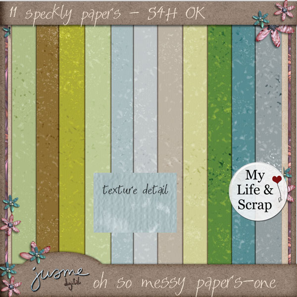 oh so messy - one digital scrapbooking papers