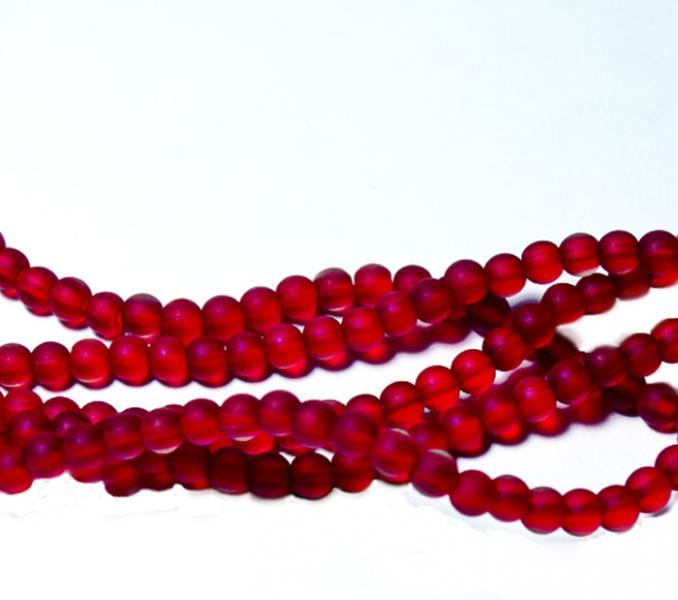 Baby Rubies- recycled sea glass beads