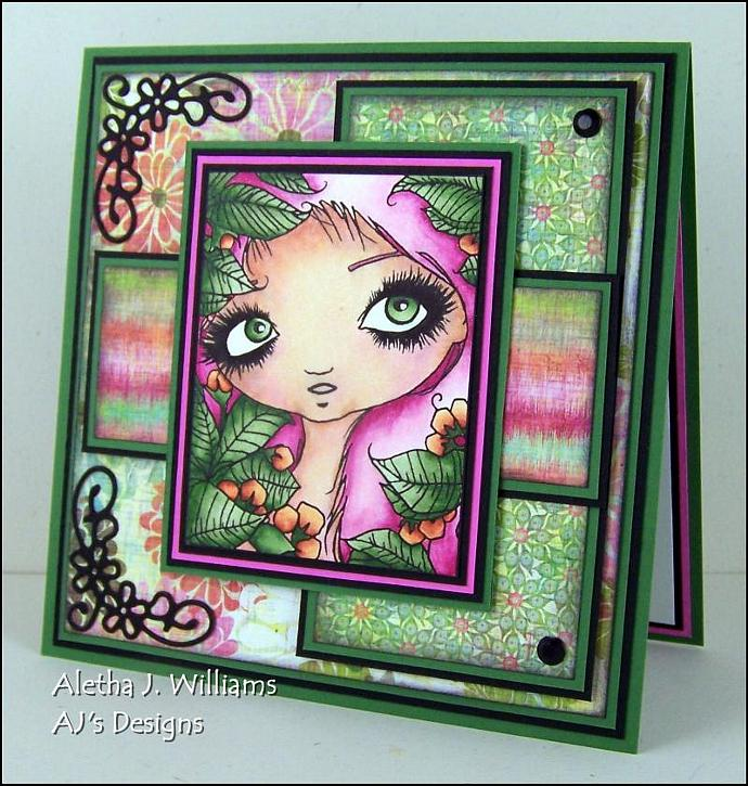 Wonder Nymph Handmade OOAK Fantasy Greeting Art Card