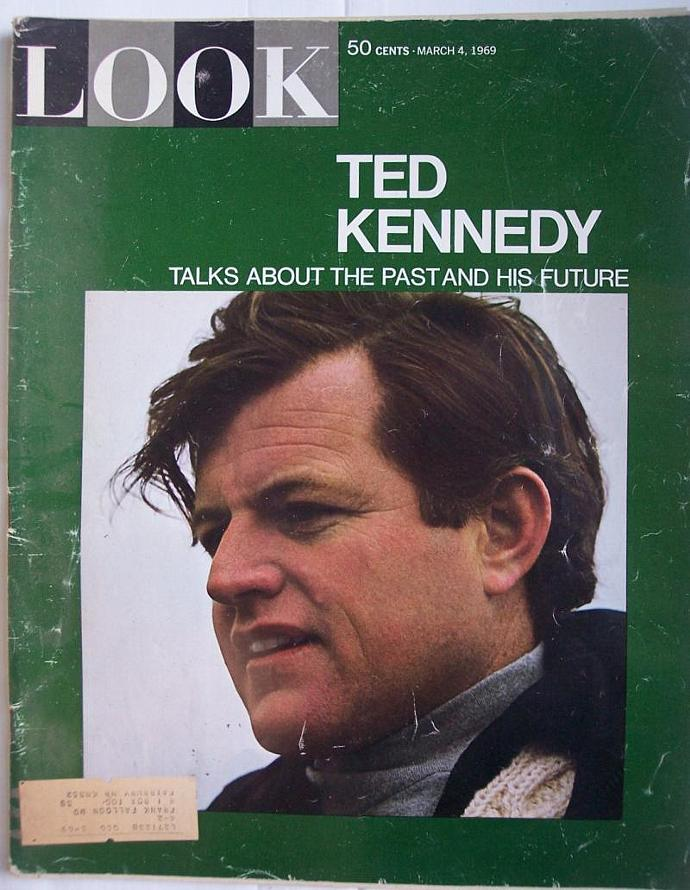 Vintage Look Magazine March 4, 1969 Ted Kennedy Cover