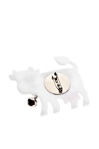 Happy Cow Brooch,Plexiglass Jewelry,Lasercut Acrylic,Gifts Under 25