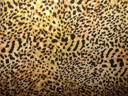 Leopard Print Brown and Yellow fully lined Reversible Tote Large
