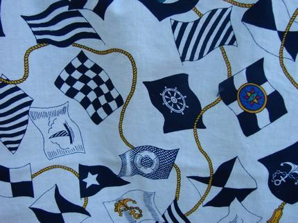 Nautical Flags Tote fully lined with an interior pocket Medium Size
