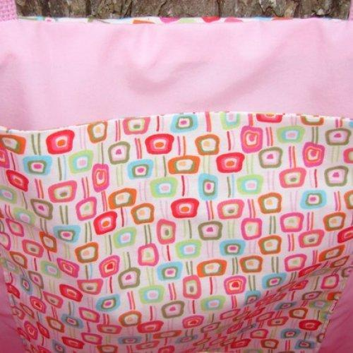 Shades of Pink Geometrics Tote fully lined Extra Large