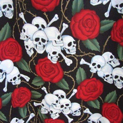 Skulls and Roses Alexander Henry Tote fully lined Extra Large