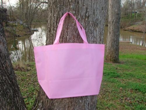 SET OF 2 Pink Jumbo Reusable Water resistant Grocery/Market totes