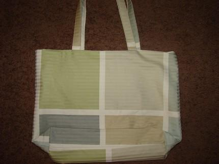 Muted Tones Color Block Tote Extra Large