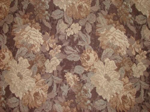 Brown Floral Decorator Fabric By The Yard