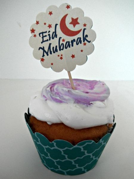 Eid Mubarak Cupcake Arabesque Toppers & Cupcake Wraps - set of 12
