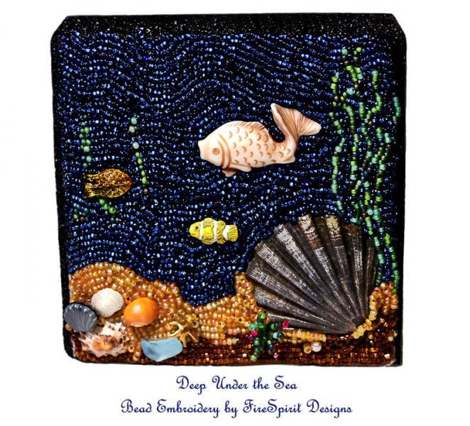 Deep Under the Sea- Bead embroidery