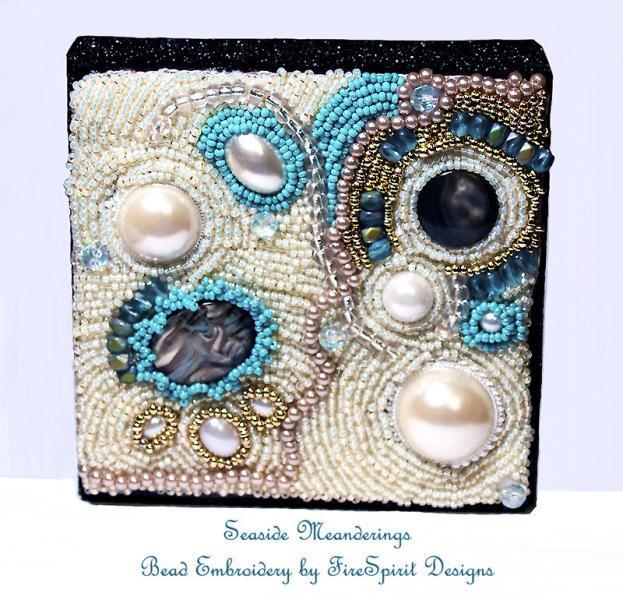 Seaside Meanderings- Bead embroidery