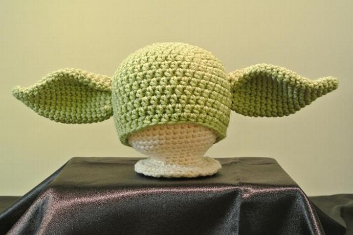 Yoda Hat Pattern Newborn 24 By Thewholeknitandcaboodle On Zibbet