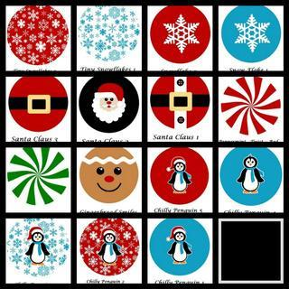 """10 1"""" CHRISTMAS FLATBACK BUTTONS FOR BOW CENTERS, BUTTON CLIPPIES ---- YOU PICK"""