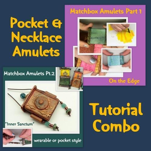 Matchbox Amulets Part 1 and 2 - Polymer Clay and Mixed Media Tutorial
