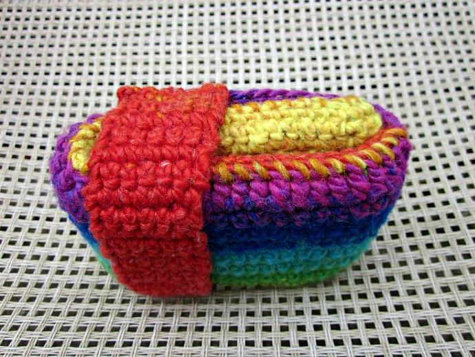 Rainbow Crochet Trifold Wallet