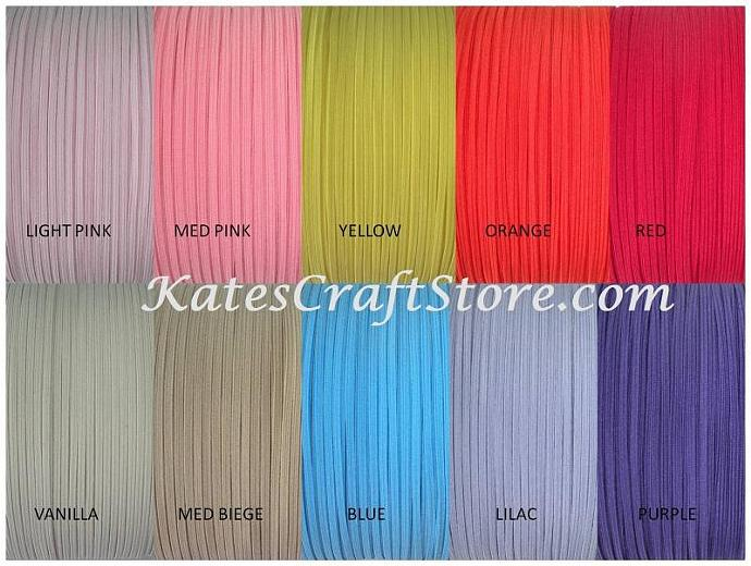 "5 YARDS 1/8"" SKINNY ELASTIC FOR BABY HEADBANDS SEWING SMOCKING - PICK YOUR COLOR"