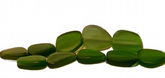 Shamrock Nuggets- recycled sea glass beads