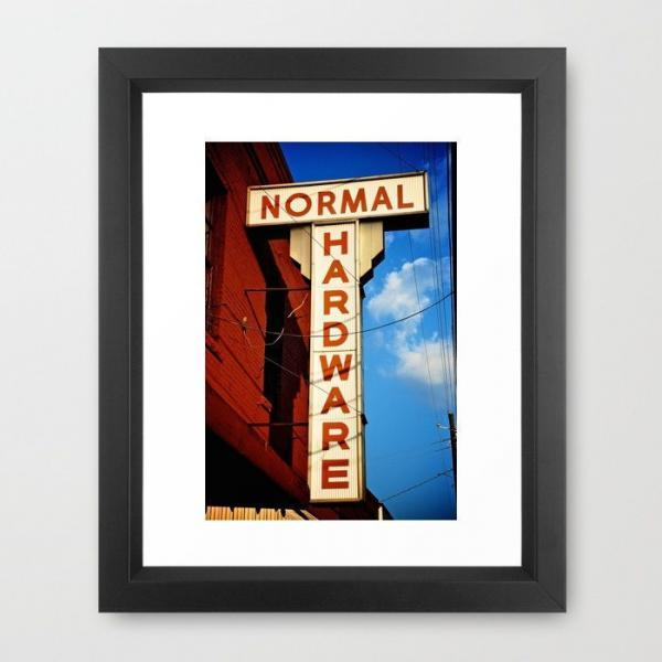Industrial Photo, Normal Hardware Store, Vintage Ad Art