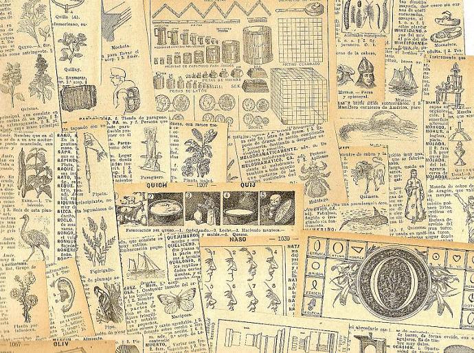 Barcelona Spain Engravings 1928 Antique 25-Piece Ephemera Packet