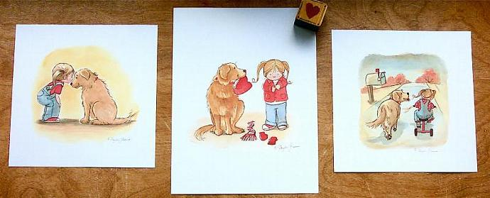Children's Wall Art Prints - Set of Three Brandy and Emma Prints