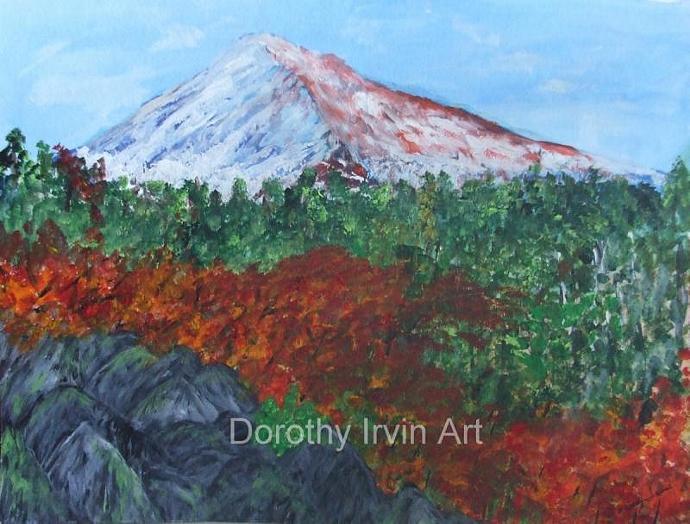 Mount Hood, Oregon in the Autumn Art Print