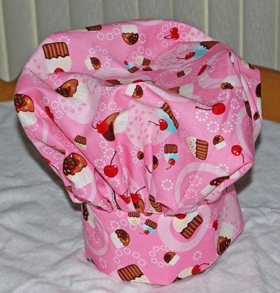 Pink Cupcake Kids Chef Hat