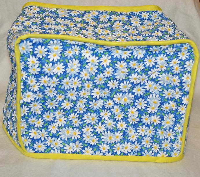Blue and Yellow Daisy Toaster Cover