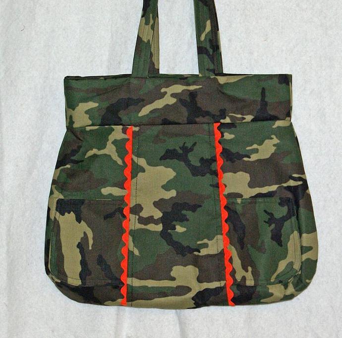 Camo  Diaper Bag Purse
