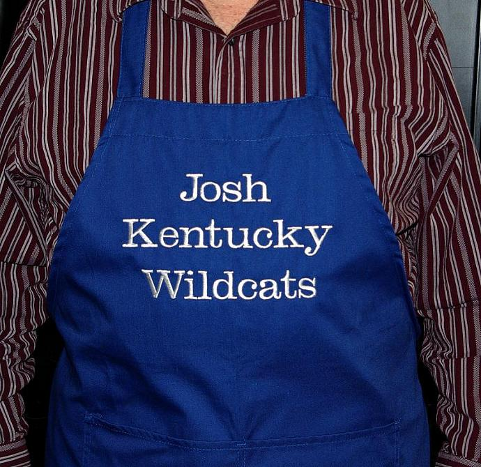 Kentucky Embroidered Apron