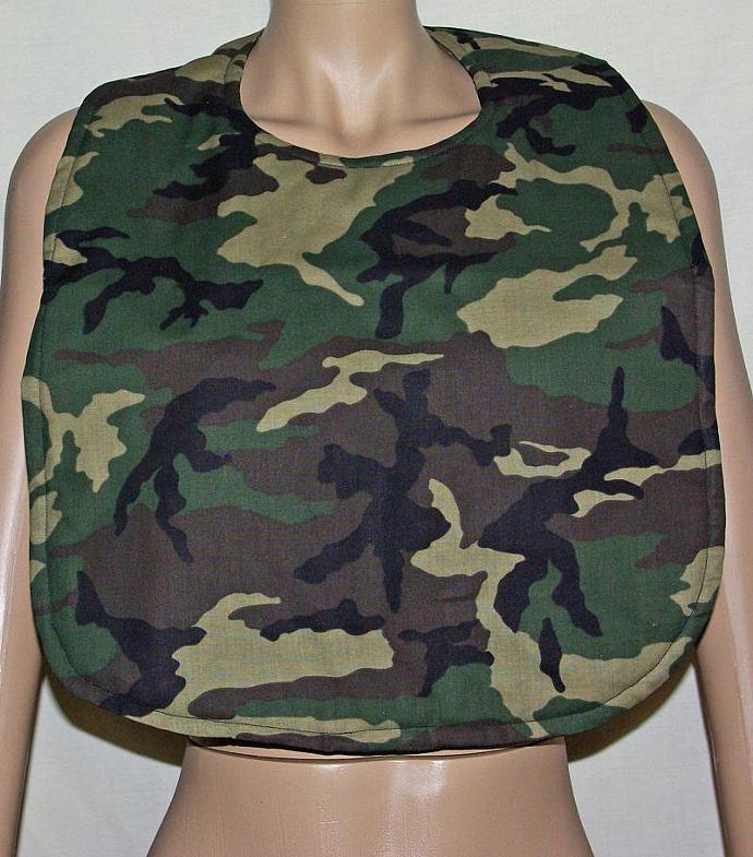 Camouflage Adult Bib