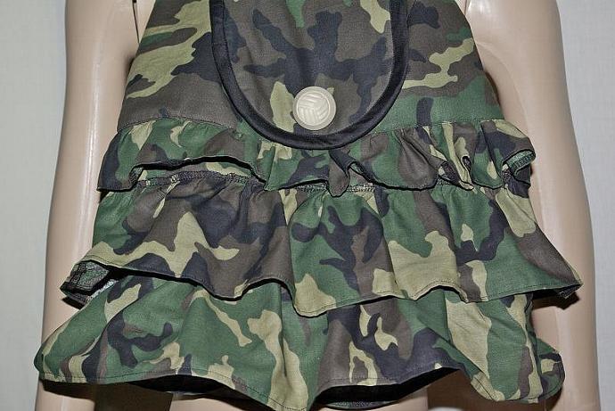 Camouflage Ruffled Bag