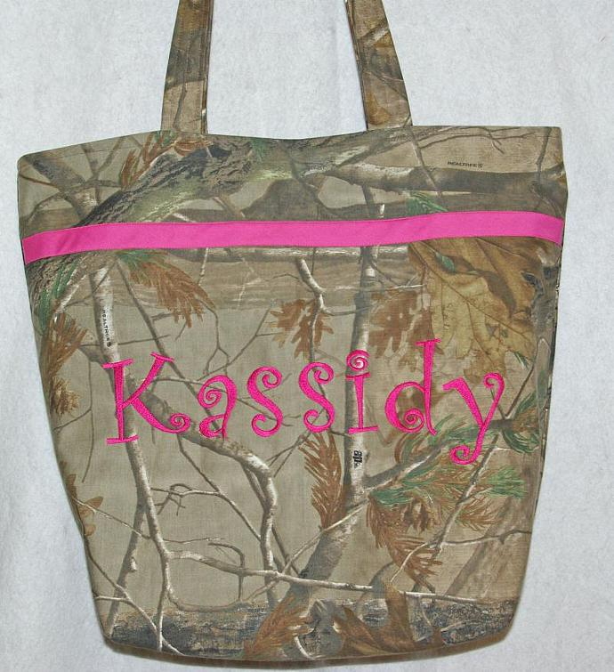 Camouflage and Pink Diaper Bag