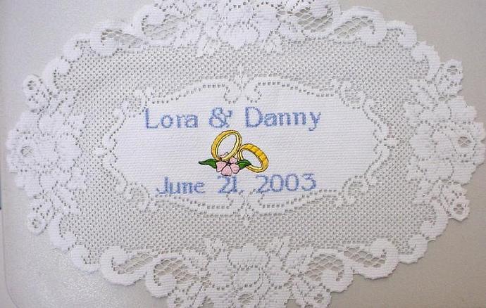 Lace Wedding Anniversary Doily